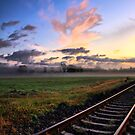 Railroad Tracks in the Morning 2 by Edward Myers