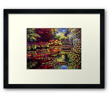 The Colors on Monet's Pond Framed Print