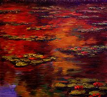 Red Lily Pond by sesillie