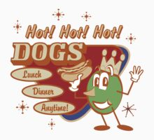 Vintage T-Shirts Hot Dog by Vintage Retro T-Shirts