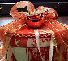 Red, Gold and White Victorian Christmas Box  by SylviaS