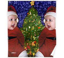 Gracie's Christmas Tree Poster