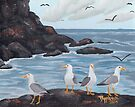 Craigs N Gulls ~ Oil Painting by Barbara Applegate