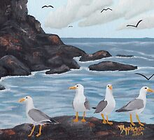 Craigs N Gulls ~ Oil Painting by Barbara Applegate