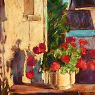 Pot of Geraniums - Burgundy by helikettle