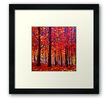 The Rustling Maple Leaves Framed Print