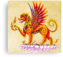 Singha - Thai Temple Guardian Canvas Print