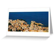 Santa Flavia. Bird's Eye View. Sicily, Italy 2005 Greeting Card