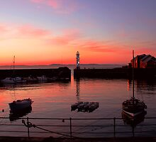Sunset Over Newhaven by Lynne Morris
