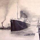 Titanic Departure by waynea3