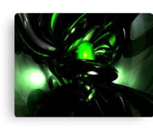 Emerald Nigthmares Abstract Canvas Print