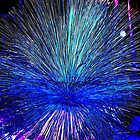 Blue Bright Burst Digital ;Abstract by schiabor