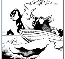 Goats in a Boat by Patricia Howitt