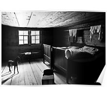 Rustic bedroom Poster