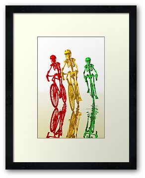 Bones on bikes by Carol and Mike Werner