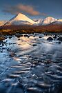 Glamaig and the Icy Sligachan Burn, Isle of Skye, Scotland. by photosecosse /barbara jones