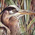 Blue Heron  by Valentina Gatewood