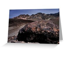 Large Boulder In Artist's Palette, Death Valley CA Greeting Card