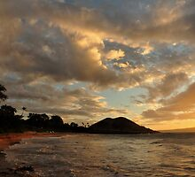 Sunset at Makena Beach, Maui by Amy Hale
