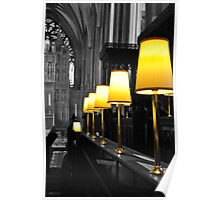 lamps, bristol cathedral, england Poster