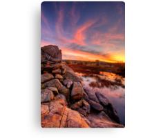 Rock Wall Sunset  Canvas Print