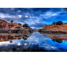 Reflection on the Rocks Photographic Print