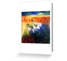 """crane """"balearica pavonina"""" Greeting Card"""