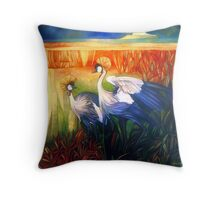 "crane ""balearica pavonina"" Throw Pillow"