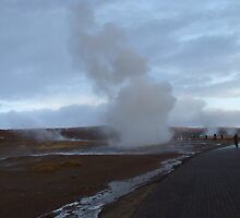 Littl Gesyr Erupts (Iceland 2009) by Colin Morley