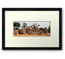 The Five Rathas Framed Print
