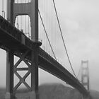 Golden Gate B&W by JoshuaVern