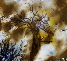 Birds, Tree and Chaos (my painting job) I by Antanas