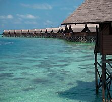 Kapalai Dive Resort - The Snorkelling Area by gleam