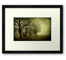 Empty way Framed Print