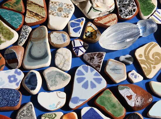All washed up! (Found treasures from the beach of Trapani, Sicily) by Christine Oakley