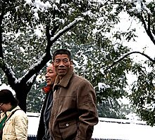 Snow in Beijing...Forbidden City by eyesoftheeast