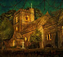 Church at Brownsea Island by Catherine Hamilton-Veal  ©