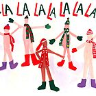 Naked Christmas Carolers by withoutastitch