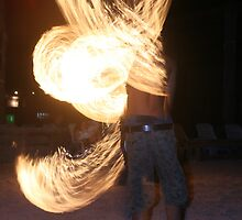 Fire dancer 2 by david marshall