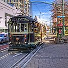 Christchurch Tram by Tony Burton