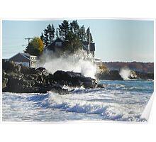 Kennebunk Maine Beach - Storm Waves Poster