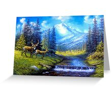 Sierra Mountain Meadow   Greeting Card