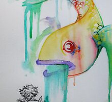 In my imagination - ink and watercolour by RabbitMcComb