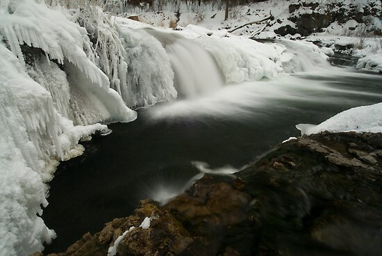 Willow Falls, Winter by Michael Treloar