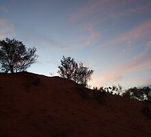 Sand-dune sunset, Thargomindah, QLD by Caroline Crawford