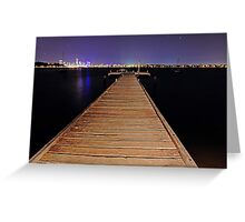 Pelican Point Jetty At Night  Greeting Card