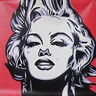 Warhol POP art Marilyn Monroe handpainting by diasha