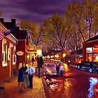 Saint Charles Cityscape - Oil Painting - 30 x 40  by Daniel Fishback