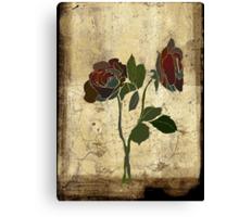 2 roses - valentine day Canvas Print
