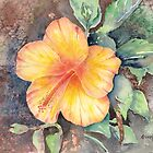 Yellow Hibiscus by arline wagner